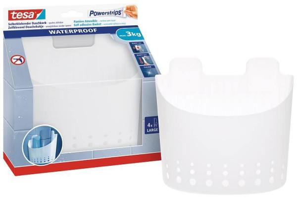tesa Powerstrips® Waterproof Korb groß 59706 Duschkorb