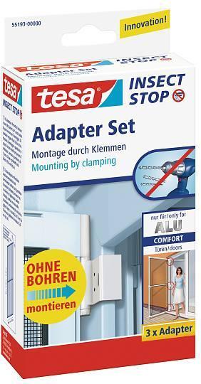 tesa® Insect Stop Fliegengitter ALU Comfort Adapter-Set