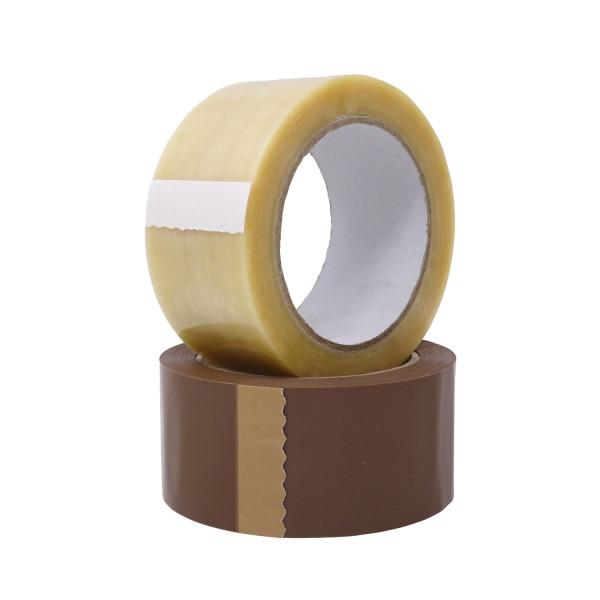 gws 442141 Premium PVC Verpackungsklebeband 50 mm Rolle transparent und braun