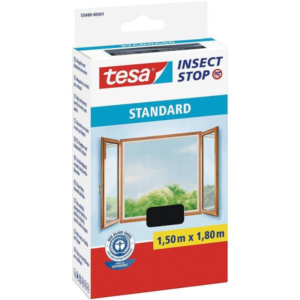 tesa® Insect Stop Fliegengitter STANDARD für Fenster anthrazit