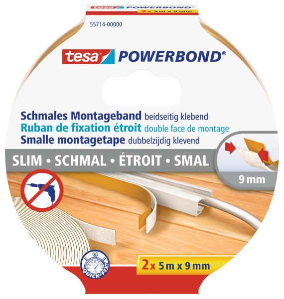tesa Powerbond® Montageband Schmal 2x 5m:9mm