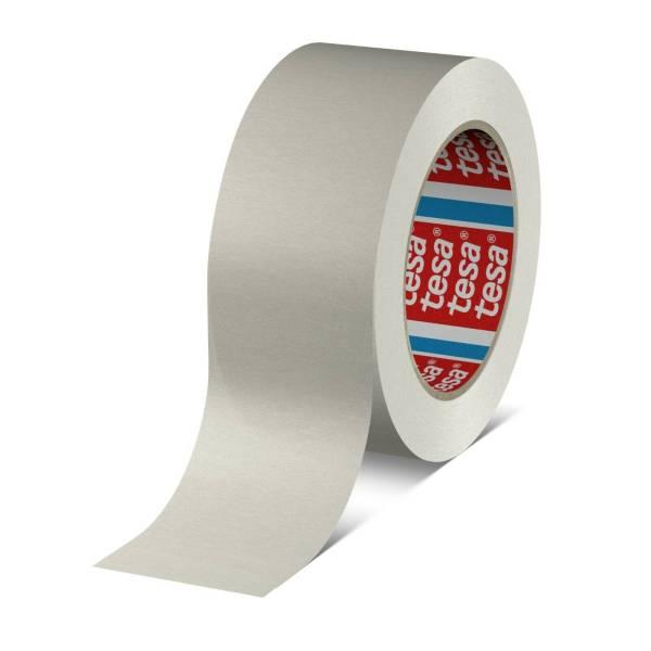 tesa 4713 Papier-Verpackungsklebeband Rolle weiss stehend