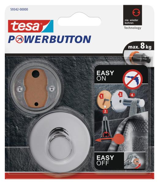 tesa Powerbutton® Haken Deluxe Chrom